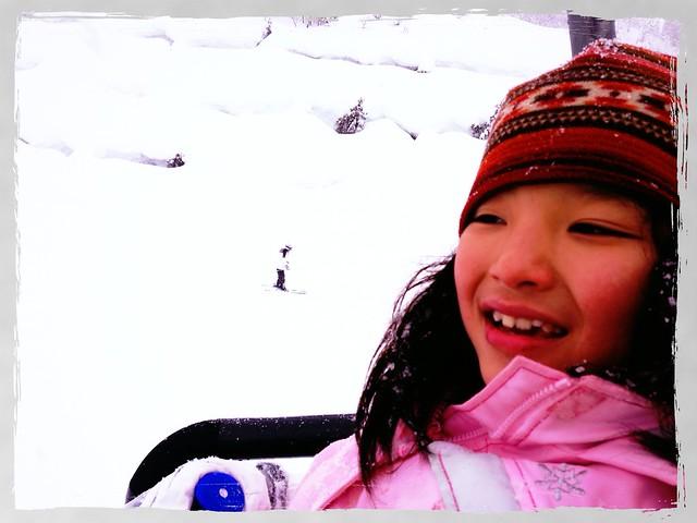 初スキーでリフトデビュー