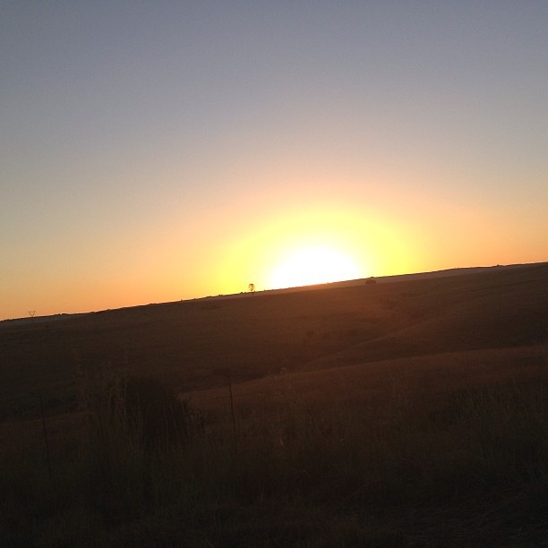 Nothing like a beautiful #sunset driving down the N4.