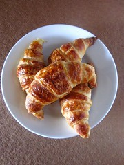 fried food(0.0), rugelach(0.0), produce(0.0), dessert(0.0), meal(1.0), breakfast(1.0), baked goods(1.0), food(1.0), dish(1.0), cuisine(1.0), danish pastry(1.0), croissant(1.0),