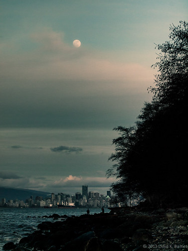 Moon Rising Over Vancouver