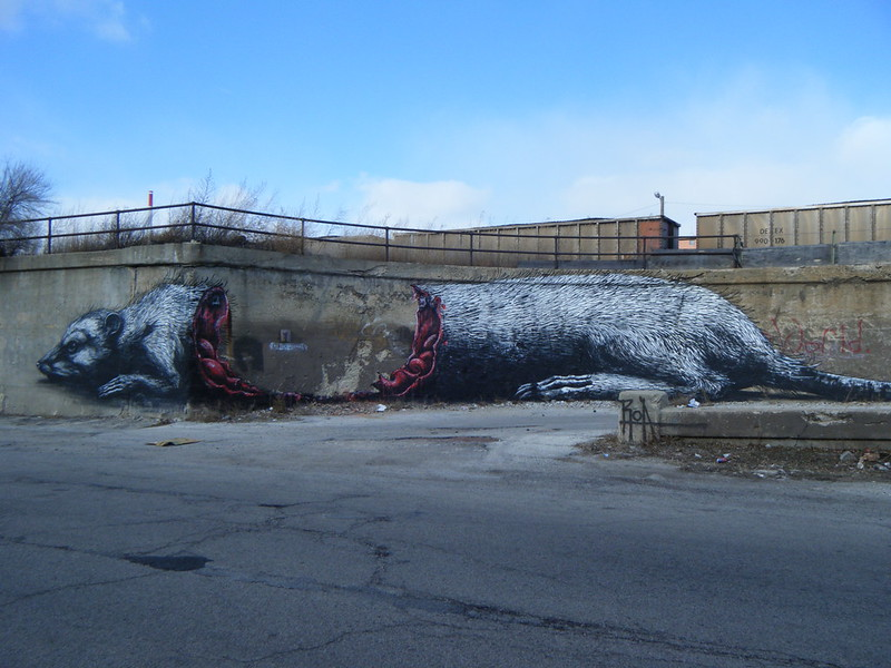 Wounded rat mural