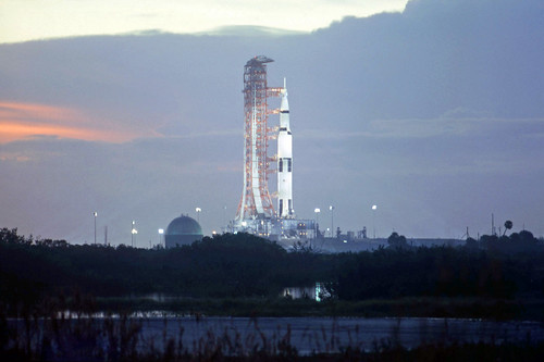 Apollo 17/Saturn 5 rocket, sunrise, December 6, 1972 by Mr Dan Beaumont