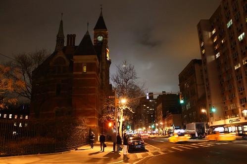 Jefferson Market Library Clocktower At Night