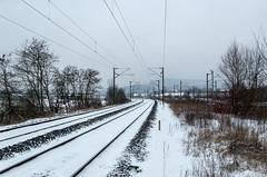 Balade dans la neige - Voie ferrée près d'Ars sur Moselle