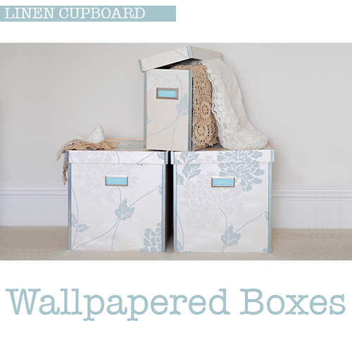 Wallpapered boxes