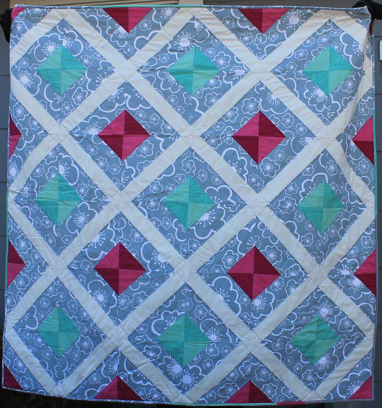 Mint Fuchsia Lattice Quilt