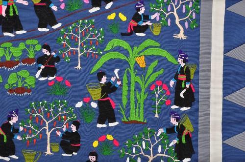 Hmong textilkép (20. század 2. fele)  (Fotó: Sarnyai Krisztina)