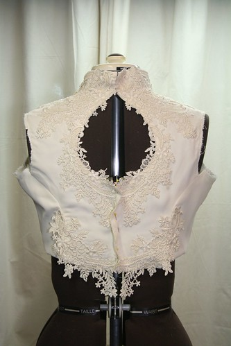 March 2013 vintage wedding gown -original bodice back