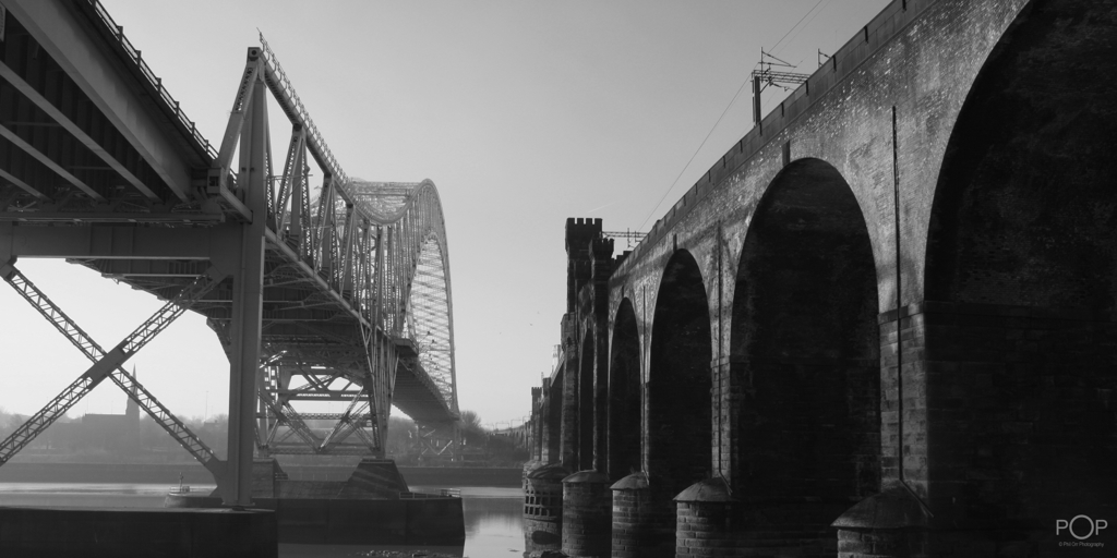 Runcorn Bridge Times Two