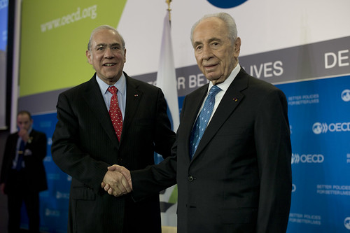 President of Israel Shimon Peres with OECD Secretary-General Angel Gurría