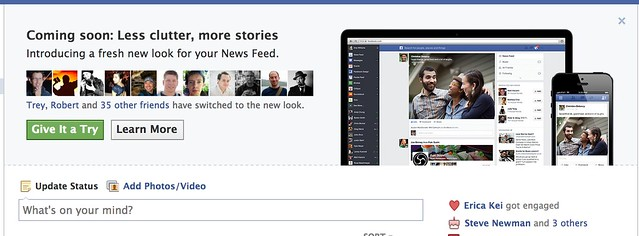 The Invite to Try the New Facebook Newsfeed