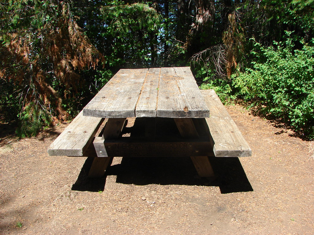 Picnic table along the Kings Mountain Trail