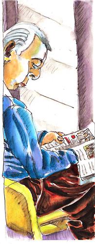 Lecture au coin de la fenêtre. by alain bertin