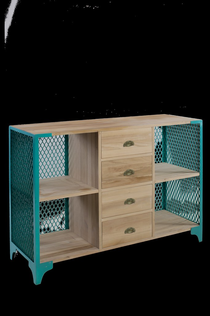 Metal Mesh Media Console 3