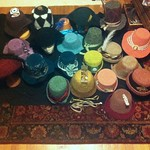 Daily (nightly?) ((Knightley?)) progress shot of the Hat Cave - prepping for Jane Austen Fest 2013 #HatterAtLarge