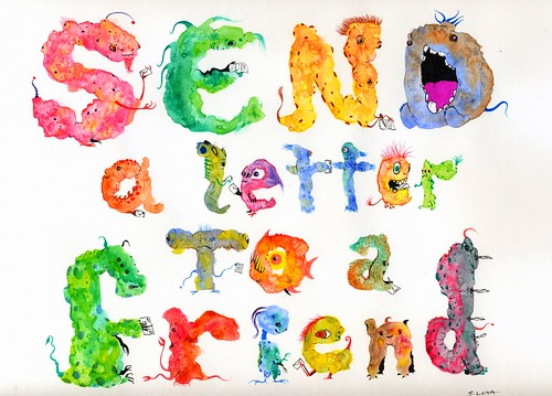 Send a Letter to a Friend (Splotch Monster text)