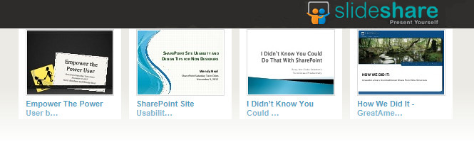 View my presentations on SlideShare