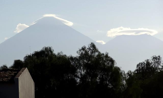 Licancabur and Juriques volcanos from San Pedro De atacama