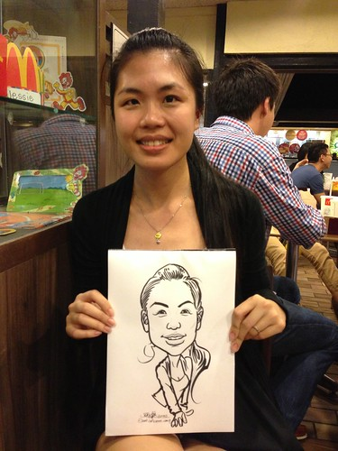 caricature live sketching for birthday party - 2