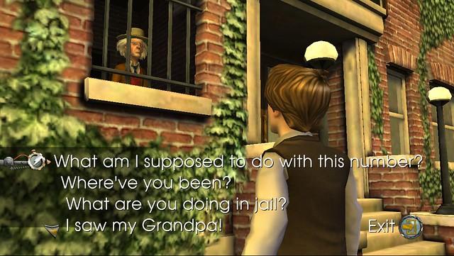 窓越しに会話