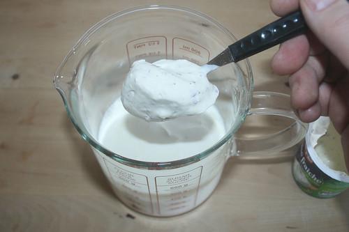 31 - Creme fraiche addieren / Add creme fraiche