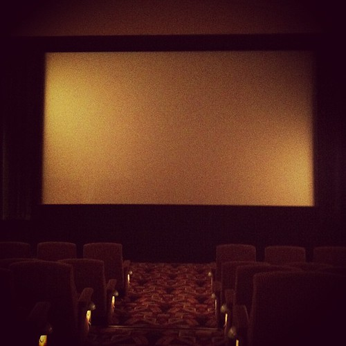 Best time of day for a movie. No one here.