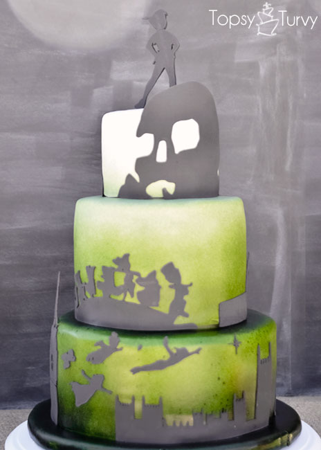 peter-pan-silhouette-shadow-ombre-fondant-birthday-cake-front