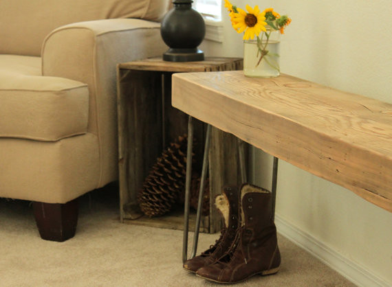reclaimed wood beam bench flickr photo sharing