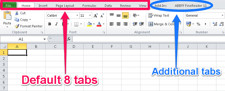 how to add data tab in excel 2010