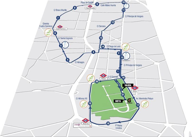 De route van de halve marathon