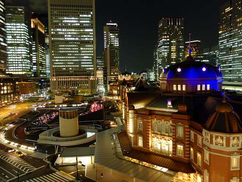 night scene of Tokyo Station terminal 01