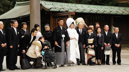 Boda japonesa en Meiji-jingu