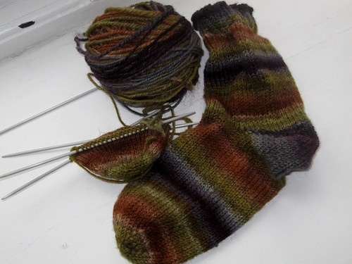 Gobbler socks in progress