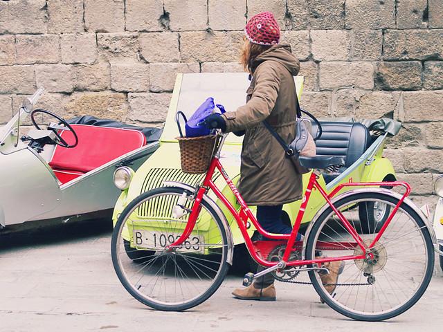Coche, bicicleta, caminante…