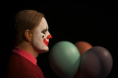 [Free Images] People, Clown, People - Profile / Look Away ID:201304010400