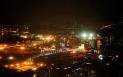Nelson Mandela Bridge Viewed Against CBD