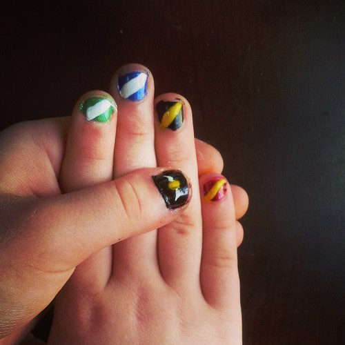 Harry Potter nails. #nailart  89_365 03-30-13