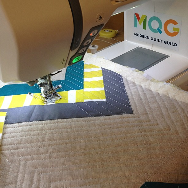 Showing my MQG pride as I quilt!