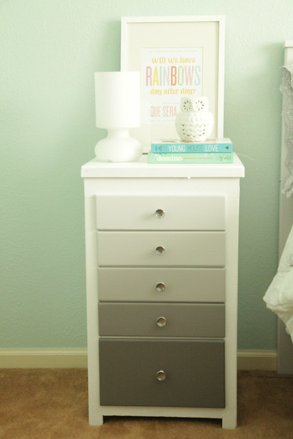 An Ombre Nightstand for the Guest Room