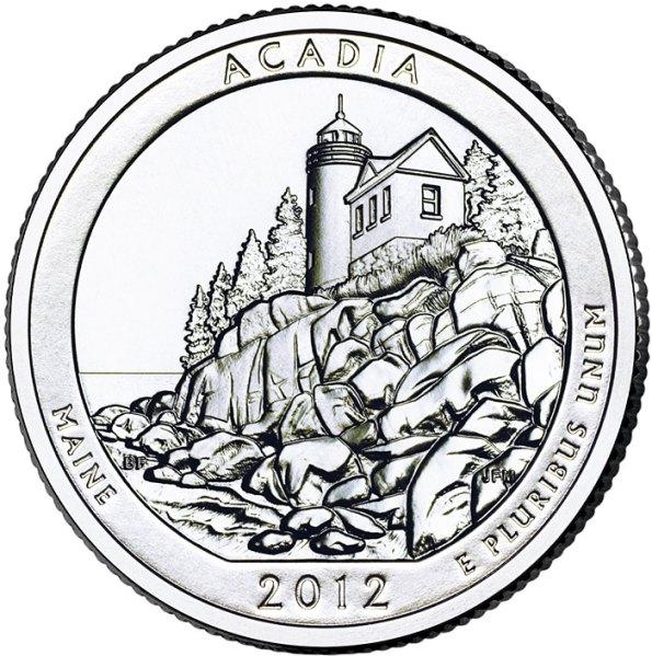 25 Centov USA 2012S Acadia