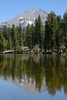 Mount Lassen from Reflection Lake by birdgal5