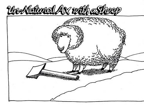 Axe with sheep