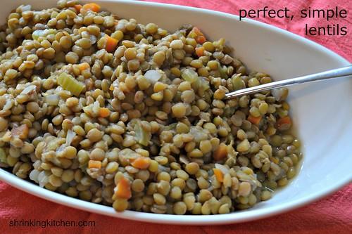 perfect, simple lentils
