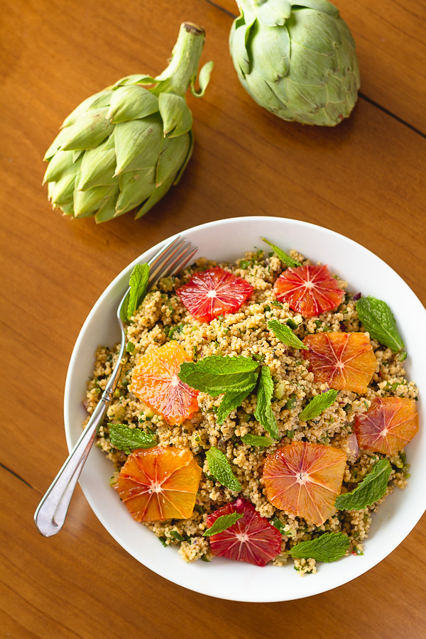 Couscous with Mint and Blood Oranges