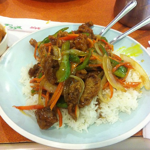 Szechuan beef #yegfood by raise my voice