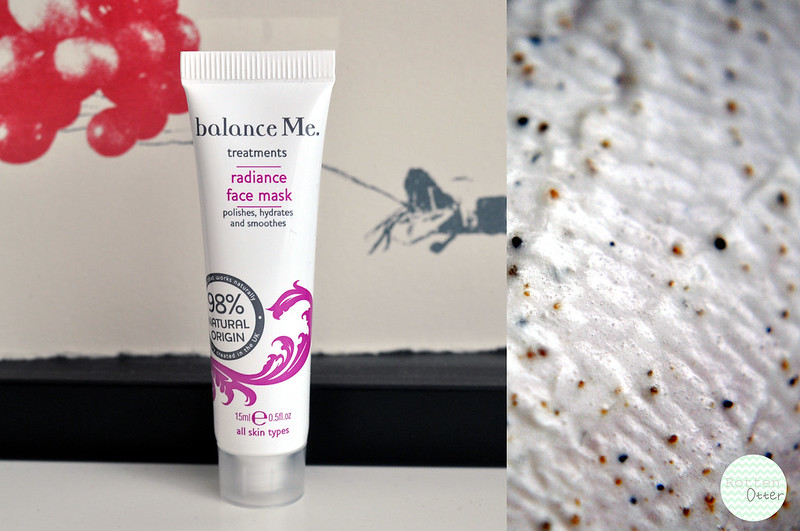 balance me radiance face mask review rottenotter rotten otter blog