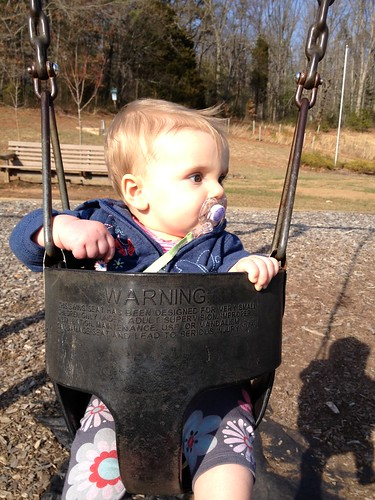 First trip to the swings!