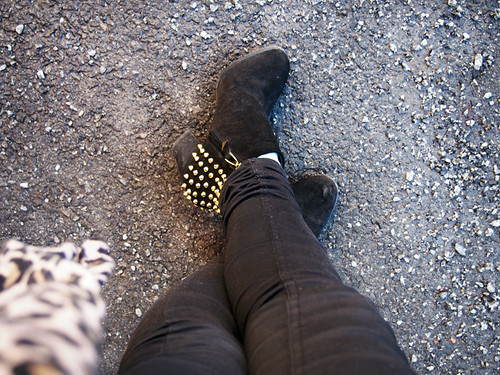 studded boots zara