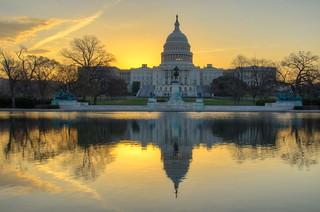 Sunrise over US Capitol