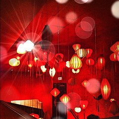 red, circle, mid-autumn festival, lighting,
